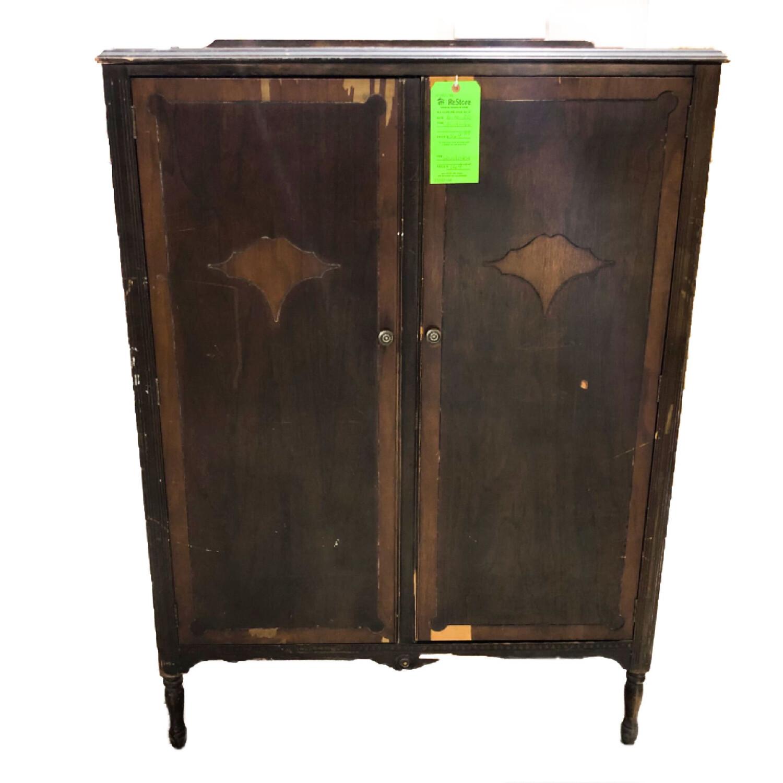 Vintage Wood Veneer Wardrobe
