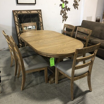 Ashley Furniture Dining Table with Six Chairs