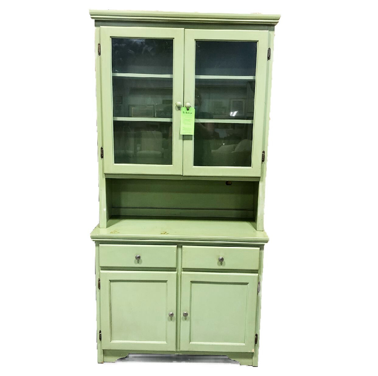Painted Wooden Display Cabinet (2 piece)