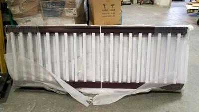 Plum & White Full PVC Railing Kit - BRAND NEW