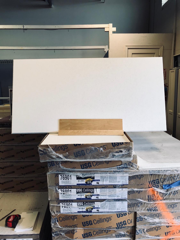 """USG Millenia White ceiling Tiles - 24""""x48"""""""