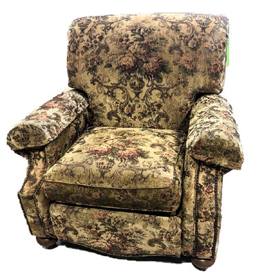 Floral Tapestry Chenille Arm Chair