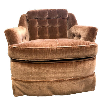 Dusty Rose Velour Sitting Chair