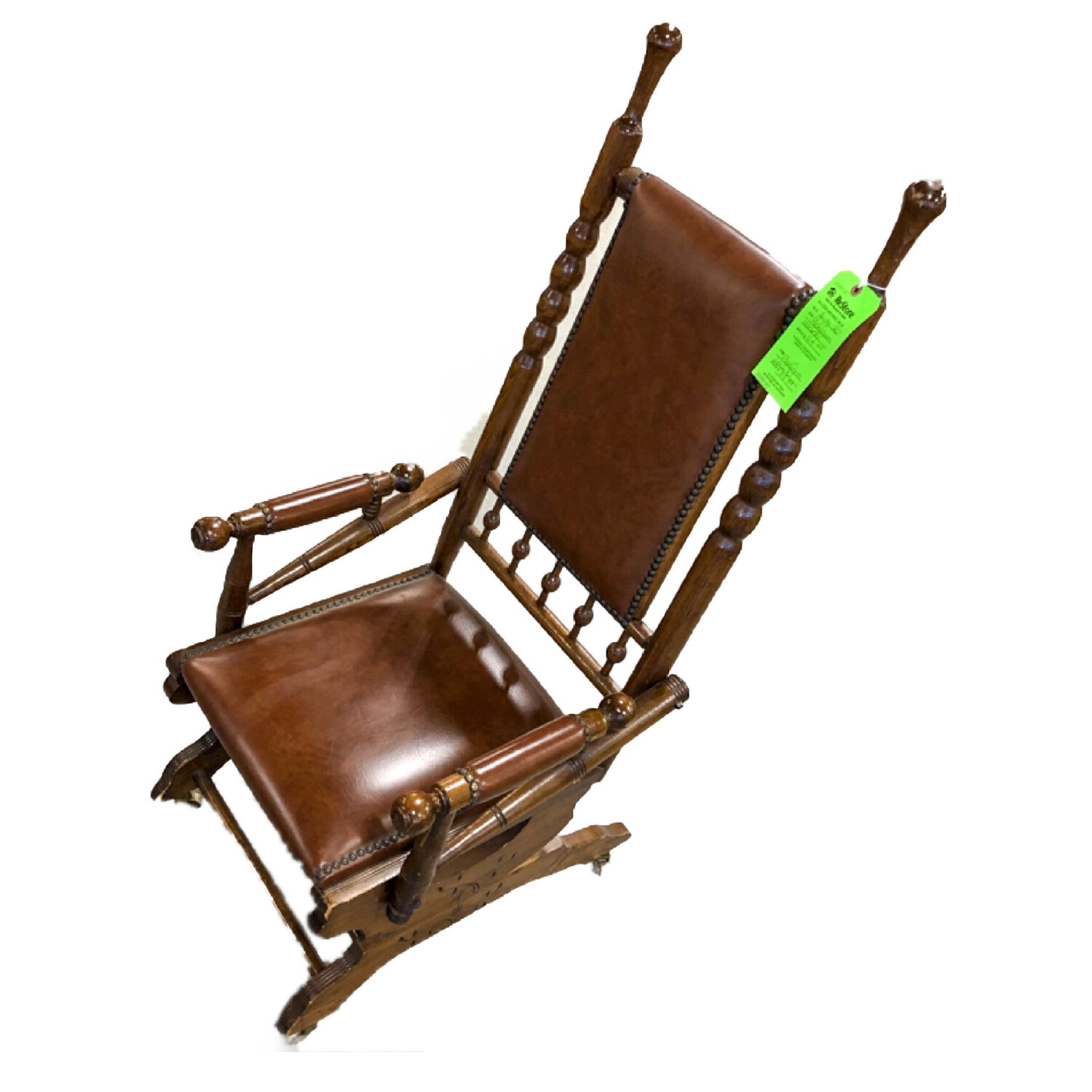 Vintage Wooden Platform Rocking Chair