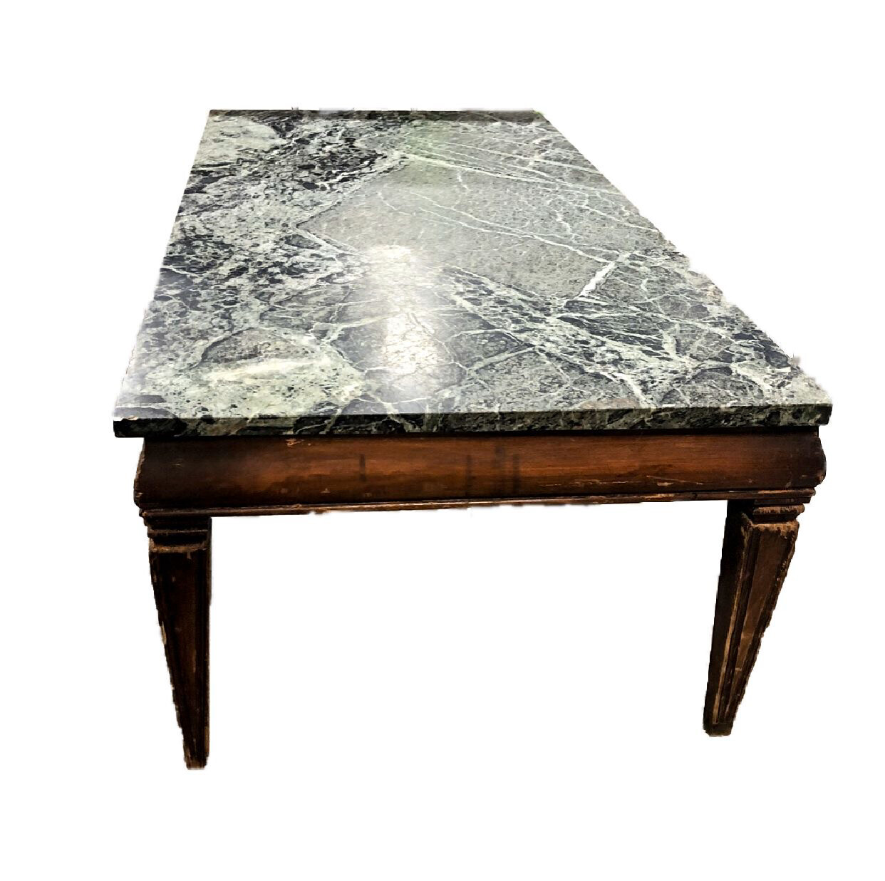 3-piece green marble table set