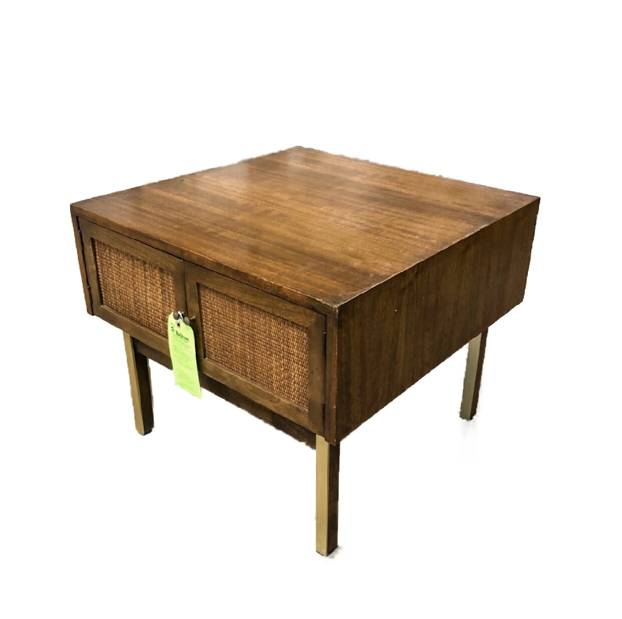 Mid-Century Modern Style Wood Veneer End Table