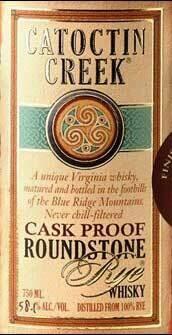 Catoctin Creek Roundtone Rye Cask Proof 58% 750ml
