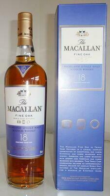 Macallan 18 Year Old 43% Old Bottling