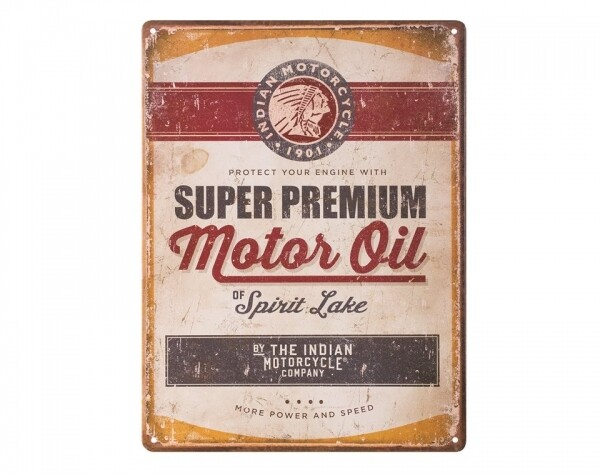 MOTORCYCLE OIL SIGN