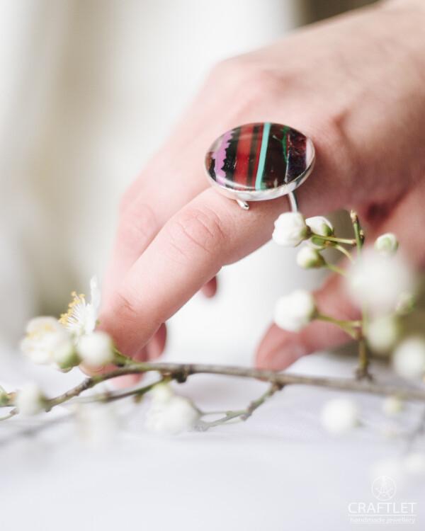 Sterling Silver Surfite Adjustable Handmade Ring