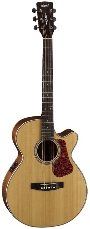 Cort L100F A/E Guitar, Solid Spruce Top, Natural Satin