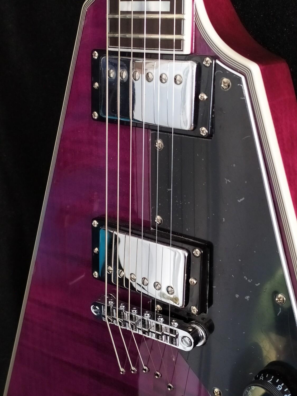 Schecter Custom Electric - Flamed Purple Top