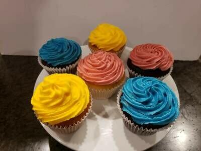 Vanilla and Chocolate Mini-Cupcakes - 8 pack