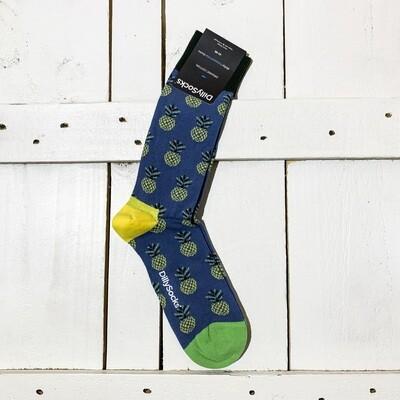 Dilly Socks – Pineapple Indigo