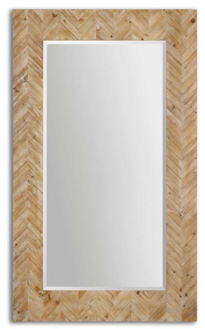 Chevron Floor Mirror