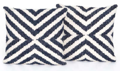 Navy & Cream Pillow