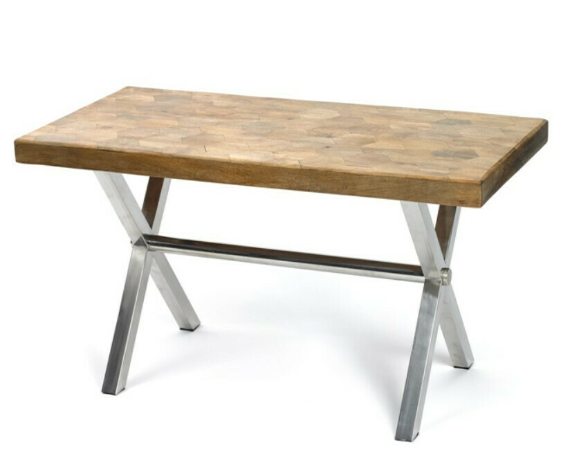 Parquet Wood & Aluminum Desk