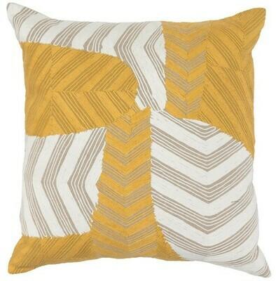 Yellow & Ivory 20x20 Pillow