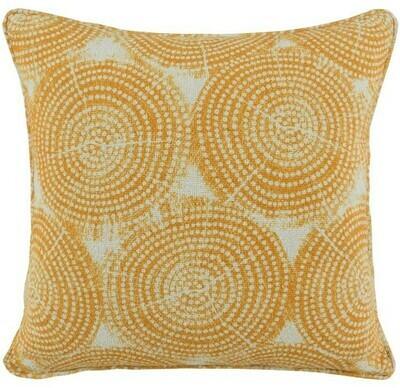 Yellow Circles 22x22 Pillow