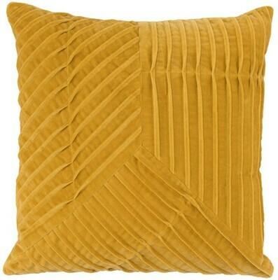 Yellow 20x20 Velvet Pillow