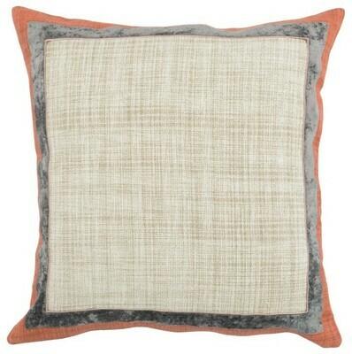 Gray & Orange 22x22 Pillow