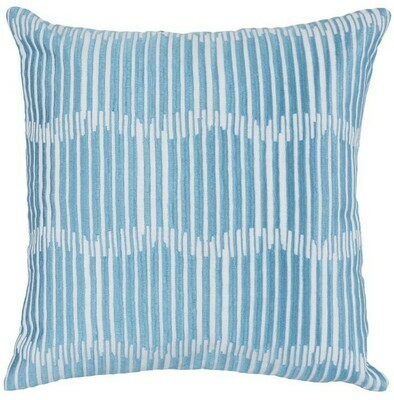 Blue Lines 22x22 Pillow