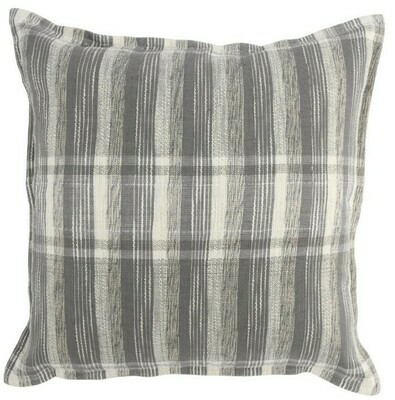 Gray & Ivory Plaid Pillow