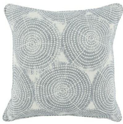 Blue Circles 22x22 Pillow