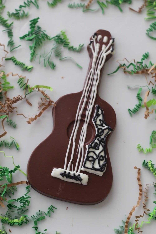 Hand Poured Chocolate Guitar