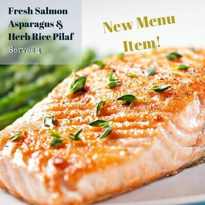 Fresh Salmon, Asparagus & Herb Rice Pilaf