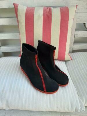 Red Zip boot