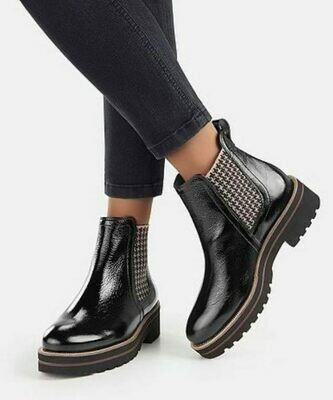 PG Patent Houndstooth Boot