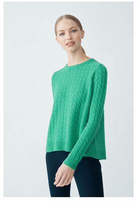 Cashmere Cable Knit - Green