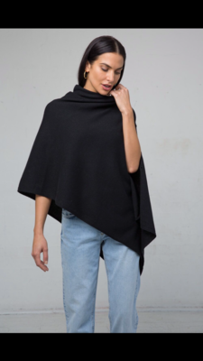 Mia Cashmere Wrap Black