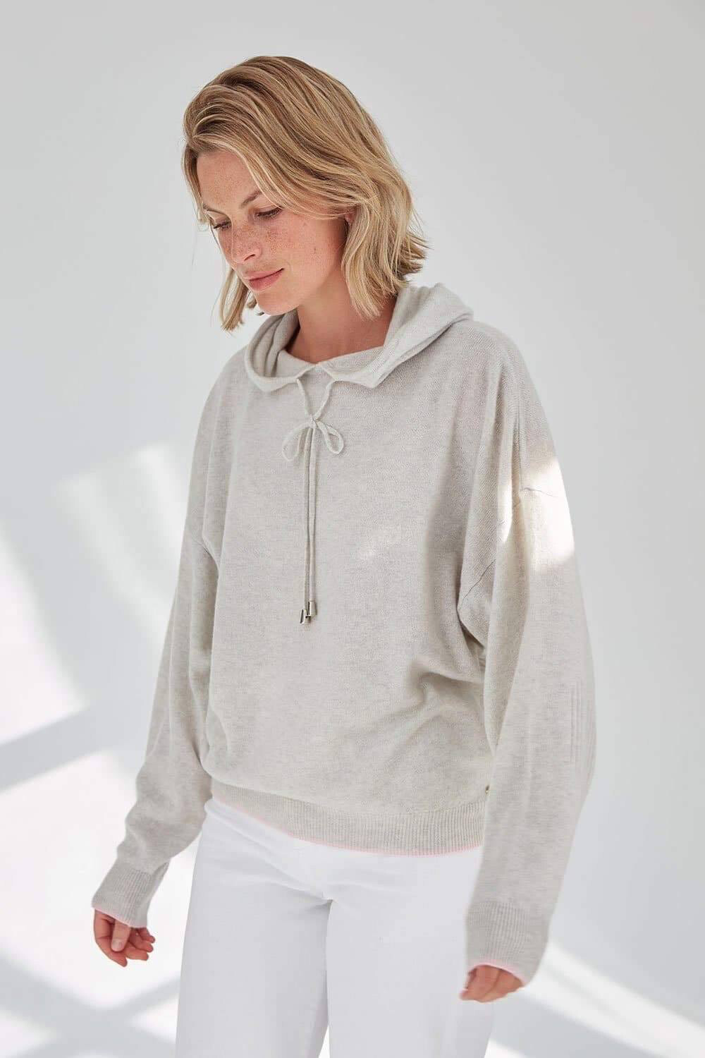 Mia Hoodie Grey And Pink