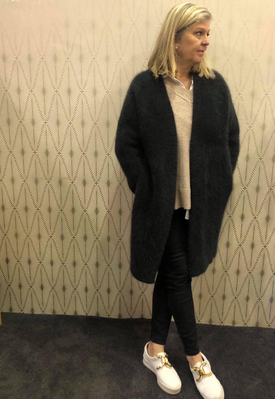 Angora Coat - Black