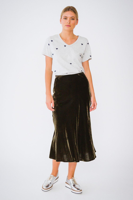 Velvet Skirt - Olive