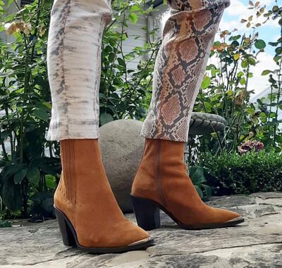 Modern Tan Suede Boot