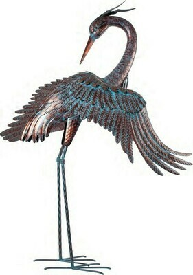 Metal Heron Wings Out