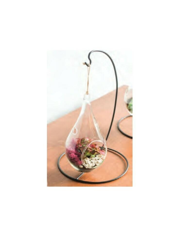Hanging Teardrop Terrarium W/Stand