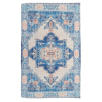 Blue & Coral Indoor\Outdoor Rug