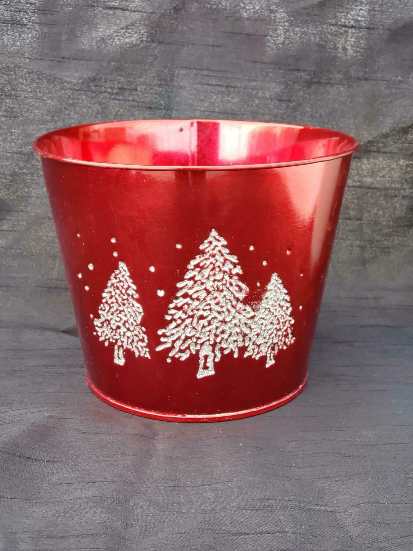 MD Red Metal Tree Pot