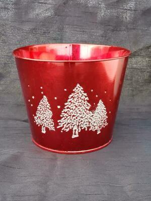 SM Red Metal Tree Pot