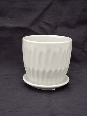 12cm L GRY Ceramic Pot