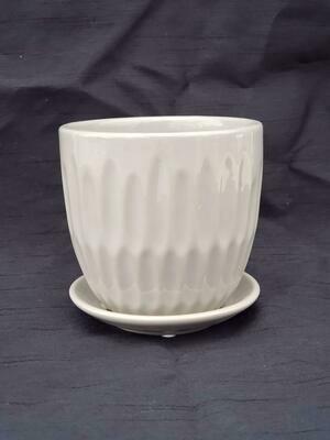 12cm WHT Ceramic Pot