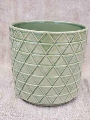 15cm GRN Pattern Ceramic Pot