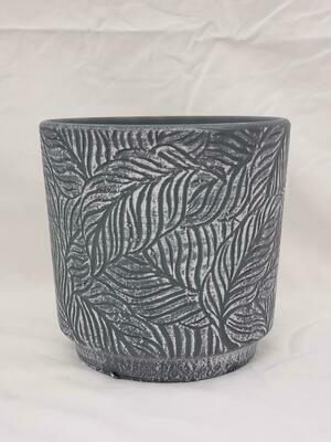 15cm D GRY Ceramic Pot