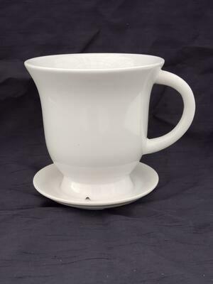 18cm WHT Ceramic Tea Pot