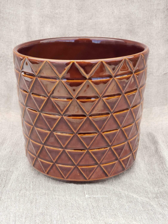 15cm BRN Pattern Ceramic Pot