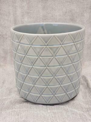 15cm GRY Pattern Ceramic Pot